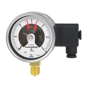 Bourdon tube pressure gauge with switch PGS21.100-PGS21.160