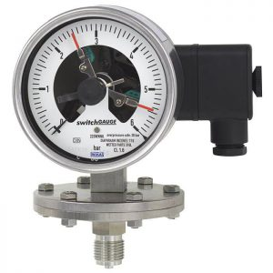 Diaphragm pressure gauge with switchPGS43.100-PGS43.160.
