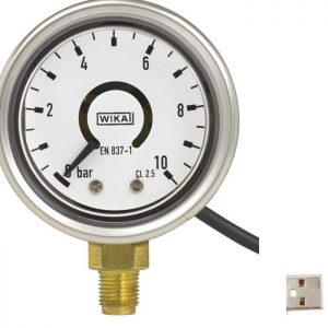 Bourdon tube pressure gauge with output signal PGT21