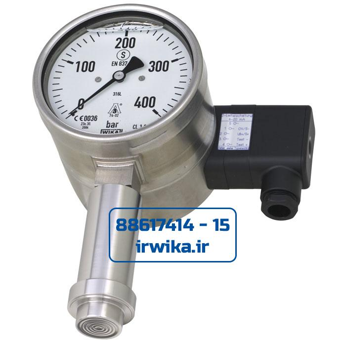 With-pressure-gauge-with-electrical-output-signal